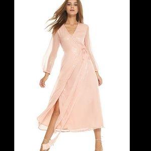 Misa Los Angeles Misha Blush Pink Striped Dress